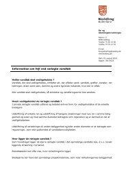 Information om fejl ved rørlagte vandløb - fra Kolding kommune