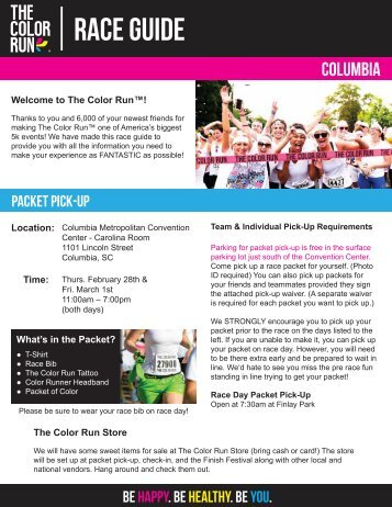Packet Pick-Up - The Color Run