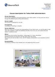 Tellus course information administrator - SourceTech AB