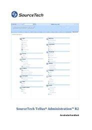 SourceTech Tellus® Administration - SourceTech AB