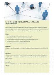 Styrk forretningen med Linkedin (Sig-gruppe) - it-forum midtjylland