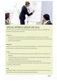Special intereSt group om Salg - it-forum midtjylland