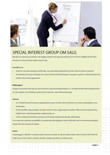Special intereSt group om Salg - it-forum midtjylland