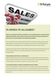 få ordren på salgsmødet - it-forum midtjylland