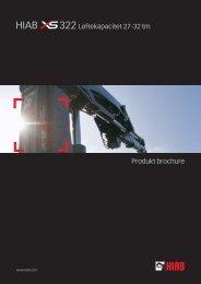 Produkt brochure 322 Løftekapacitet 27-32 tm - Sawo