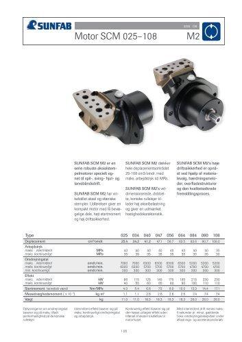 Motor SCM 025–108 M2 - Sawo