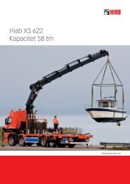 Hiab XS 622 Kapacitet 58 tm - Sawo