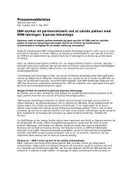 Læs pressemeddelelsen fra IBM her... (pdf) - Soft Design A/S