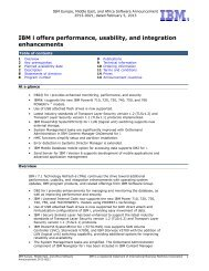 IBM i offers performance, usability, and integration enhancements