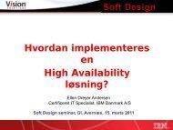 Hvordan implementeres en High Availability ... - Soft Design A/S