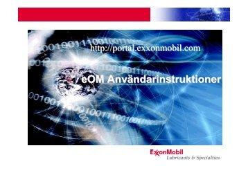 eOM Användarinstruktioner - Mobil