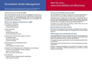 Esso eOrder Management FAQ - Mobil