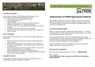 Velkommen til FREM Egernsund Fodbold
