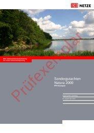 Sondergutachten Natura 2000 - Dialogforum Feste Fehmarnbeltquerung