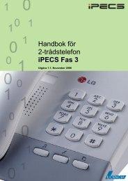 Handbok för 2-trådstelefon iPECS Fas 3 - Licencia Telecom AB