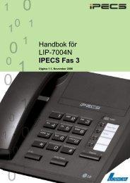 Handbok för LIP-7004N IPECS Fas 3 - Licencia Telecom AB