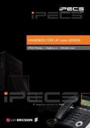 HANDBOK FÖR LIP-7000 SERIEN - Licencia Telecom AB
