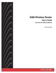6388 Wireless Router User's Guide - Zhone Technologies