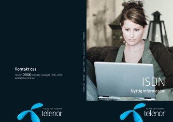 Velkomstbrosjyre for ISDN - Telenor