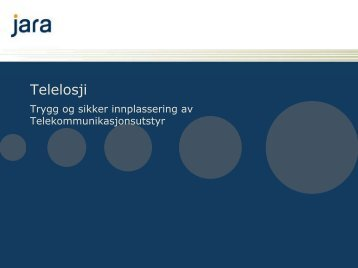 Presentasjon av Telelosji - Jara - Telenor