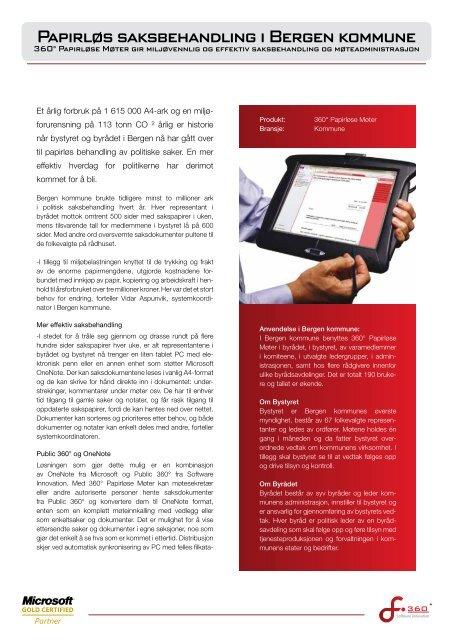 Papirla S Saksbehandling I Bergen Kommune Software Innovation
