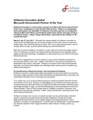 Software Innovation global Microsoft Government Partner of the Year