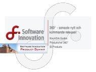 360° - senaste nytt och kommande releaser - Software Innovation