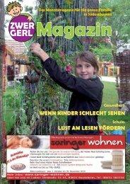 Das Monatsmagazin Für Die Ganze Familie In ... - Zwergerl Magazin