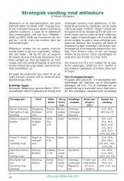 Strategisk vanding mod æbleskurv - Økologisk Rådgivning
