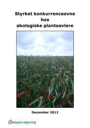 Læs slutrapporten - Økologisk Rådgivning