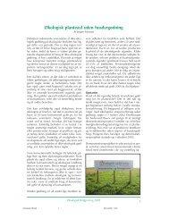 Økologisk planteavl uden husdyrgødning - Økologisk Rådgivning