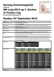 Herning Orienteringsklub DM Long 2012 og 7. Section of Trimtex ...