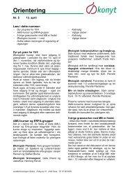 Orientering - Økologisk Rådgivning