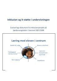 Evaluering af inklusionsprojekt 2008 - Favrskov Kommune