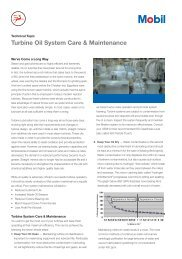 Turbine Oil System Care & Maintenance - Mobil™ Industrial Lubricants
