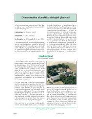 Rapport for 2004 kan læses her - Økologisk Rådgivning