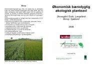 Økonomisk bæredygtig økologisk planteavl Skovsgård Gods ...