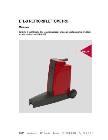 LTL-X RETRORIFLETTOMETRO Manuale - Delta
