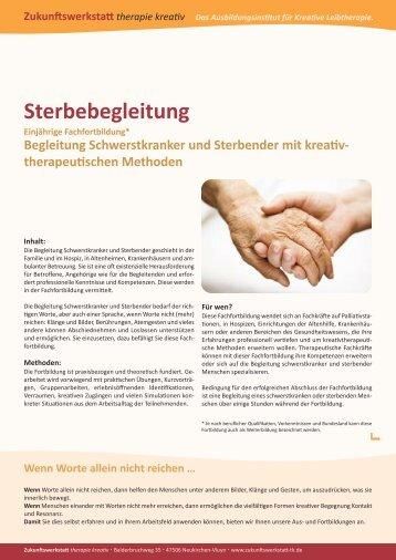 therapeutischen Methoden Sterbebegleitung - Zukunftswerkstatt ...