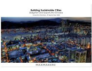 Building Sustainable Cities - Maxmakers