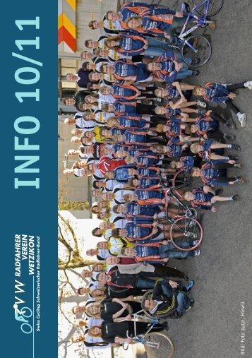 IN FO 10 11 - Radfahrer Verein Wetzikon