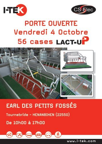 Vendredi 4 Octobre PORTE OUVERTE 56 cases - Vereijken Hooijer