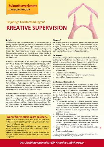 KREATIVE SUPERVISION - Zukunftswerkstatt therapie kreativ