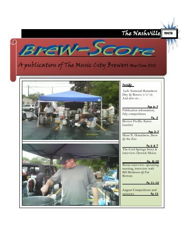 The Nashville A publication of The Music City Brewers May/June 2012
