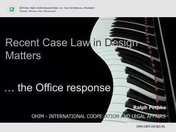 Recent Case Law in Design Matters … the Office response