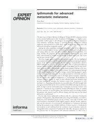 Metastatic Melanoma and Melanogenuria - Cutis