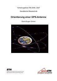 Orientierung einer GPS-Antenne - geometh-data - ETH Zürich