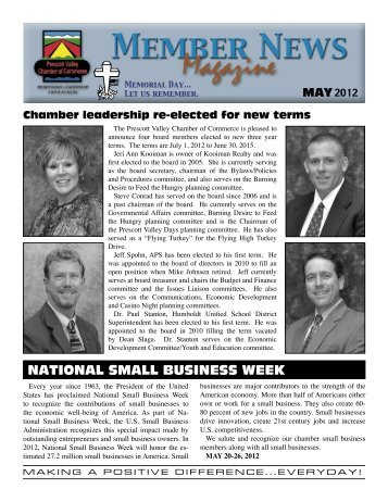 national small business week - Prescott Valley Chamber of Commerce