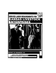 Derived Labor Requirements for Kansas Livestock Enterprises