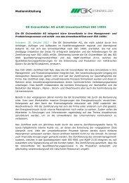 Medienmitteilung GK Grünenfelder AG erhält Umweltzertifikat ISO ...